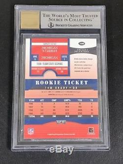 Tom Brady 2000 Playoff Contenders Auto Rookie RC Ticket BGS 9/10 GREAT SUBS