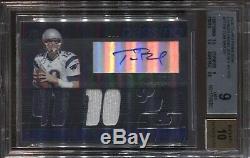 Tom Brady Bgs 9 2006 Topps Paradigm Jersey Auto Autograph Patriots /99 5351