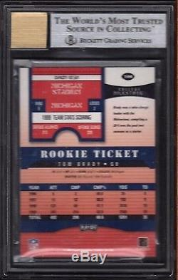 Tom Brady Patriots 2000 Playoff Contenders 144 Rookie Card Rc BGS 9 Mint Auto 10