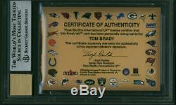 Tom Brady Signed Auto 2000 Fleer Autographics Gold /50 Beckett BGS 8.5 10