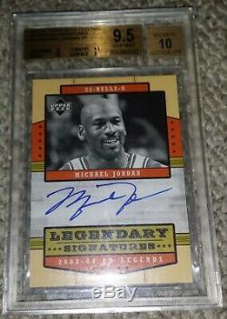 Upper Deck Legends Legendary Signatures Michael Jordan #23 Autograph Bgs 10 Auto