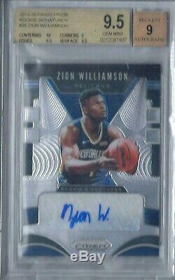 Zion Williamson 2019-20 Panini Prizm Rookie Signatures Auto Autograph Rc Bgs 9.5